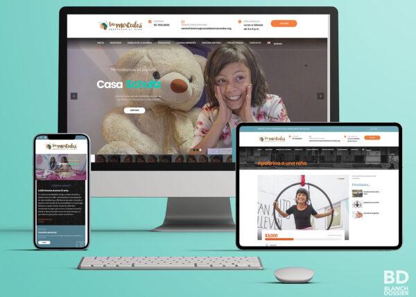 Diseño web - Frontend y Backend - Fundación Casa de las Mercedes